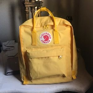 Fjallraven kanken classic backpack yellow